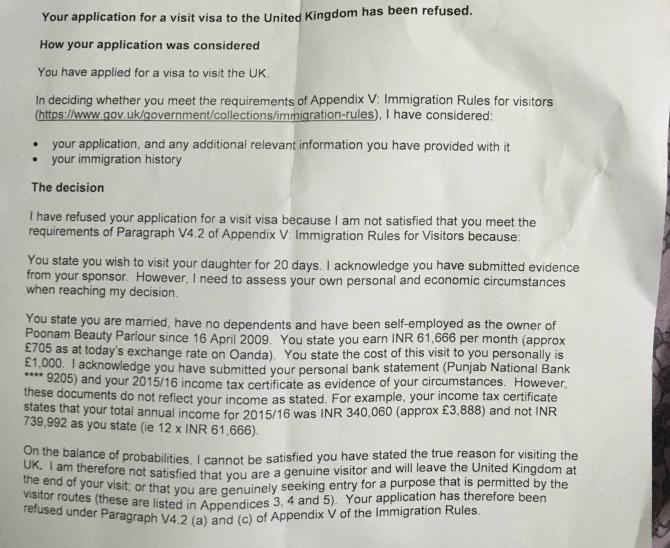 Uk Visitor Visa Refused Multiple Sponsors