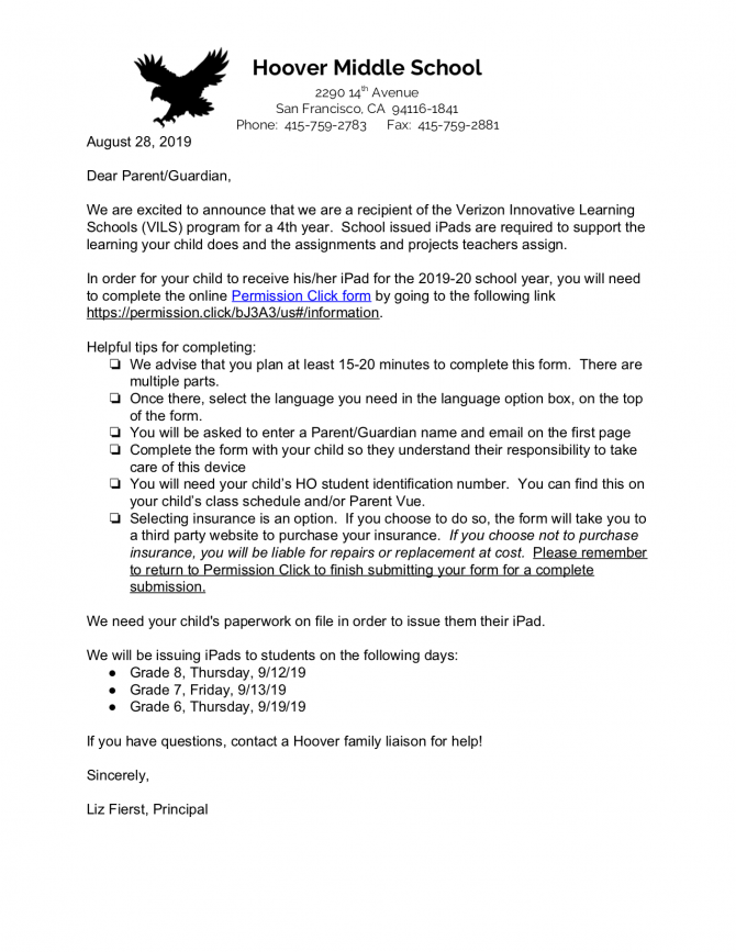 Vils Cover Letter For Families English