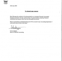 Employee Reference Letter For Visa