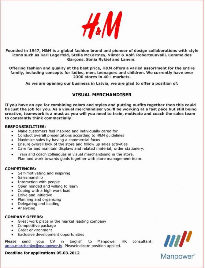 Visual Merchandising Resume Samples Best Of Visual Merchandising