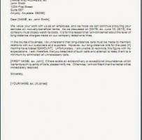 Business Warning Letter