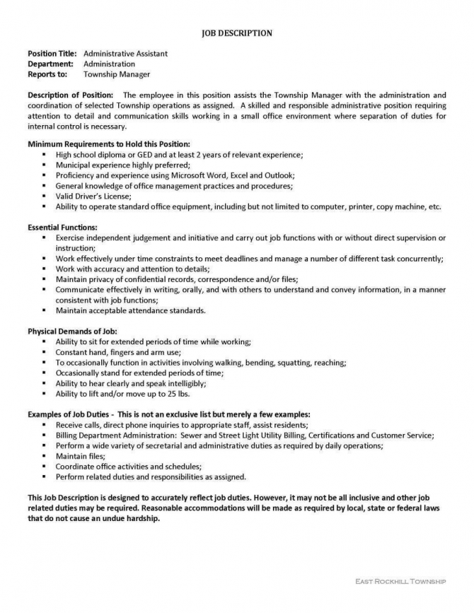 Administrative Assistant Duties Resume Newest Administrative