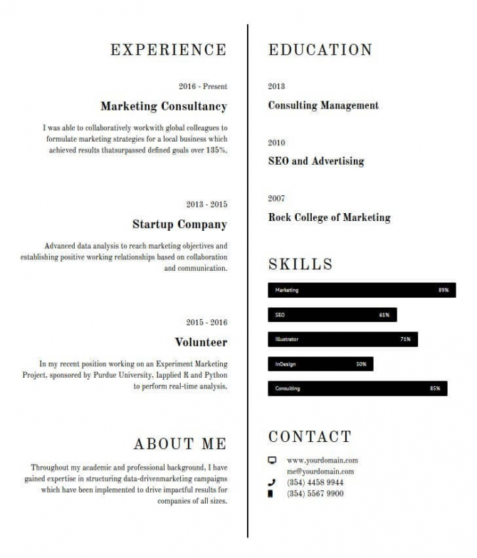 Advertising Consultant Template