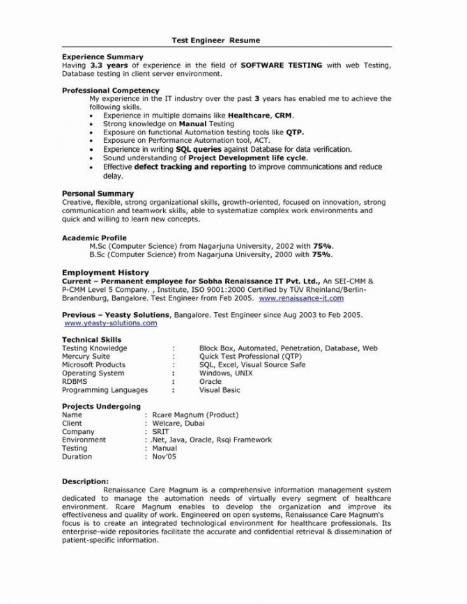 Apps Development Pinwire Sample Resume Format For  Years