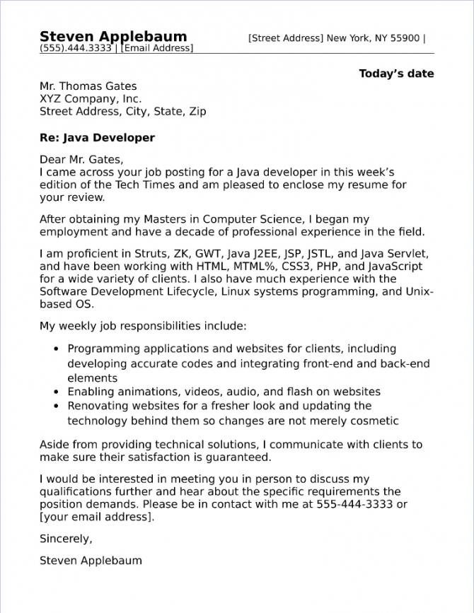 Best  Cover Letter Samples For Information Technology Jobs