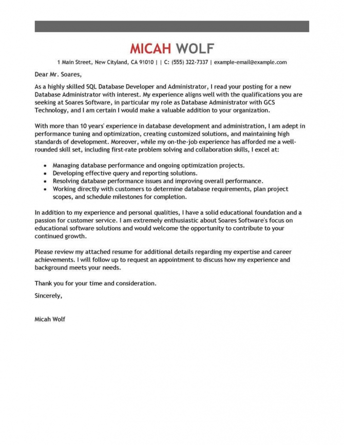 Best Computers   Technology Cover Letter Examples