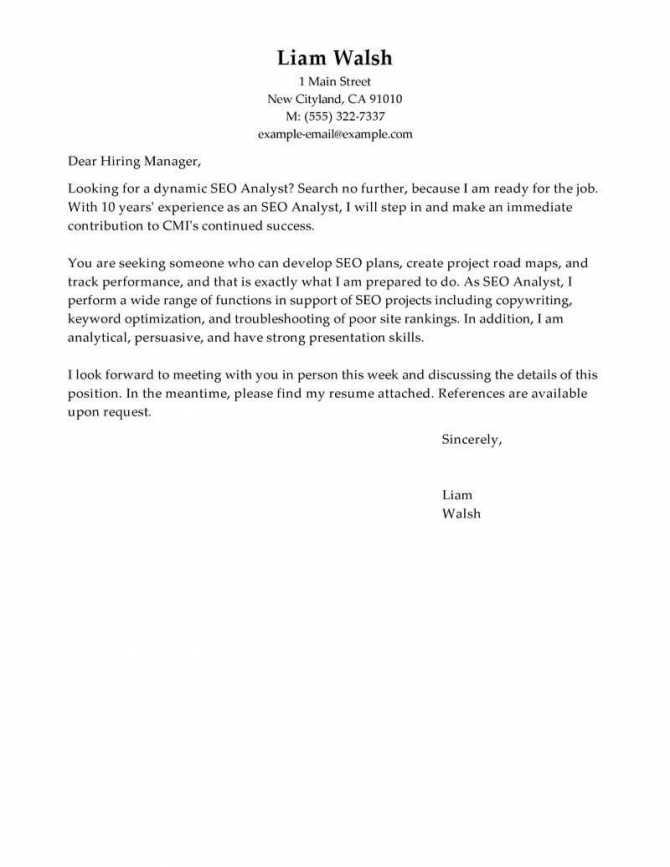 Best Seo Cover Letter Examples