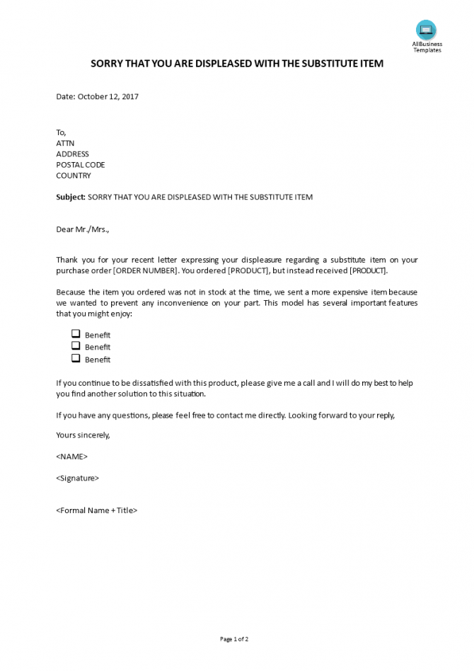 Complaint Reply