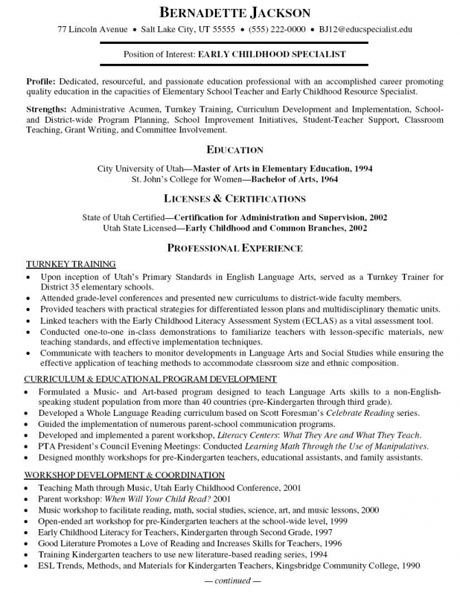 Computer Trainer Resume