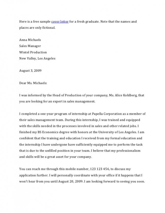 Cover Letter Economics Teacher