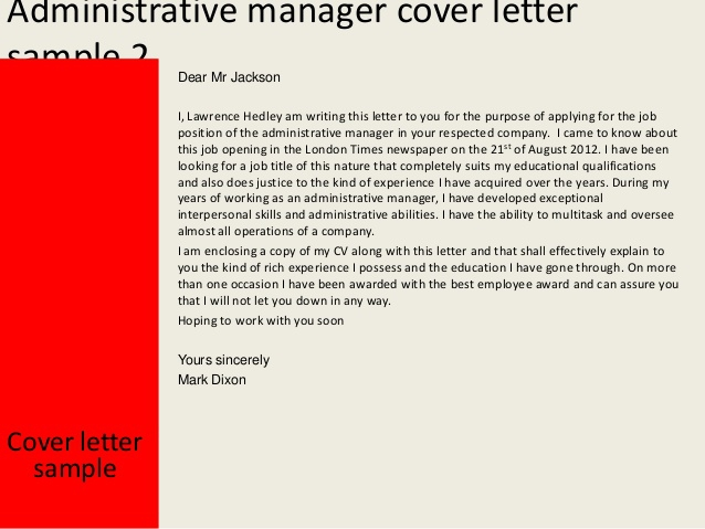 Cover Letter For Administrative Professional Branch Office