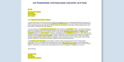 Cover Letter For Attending Physician