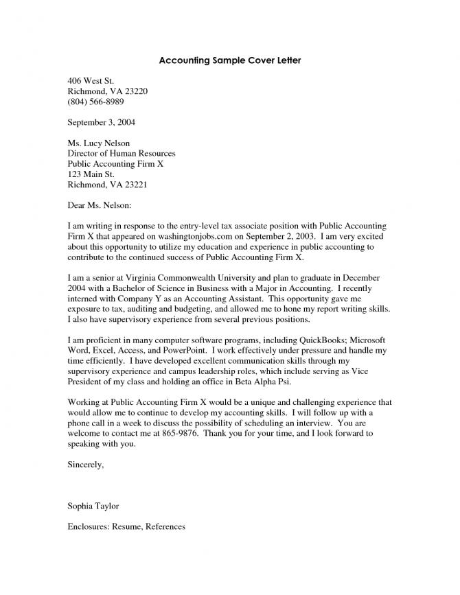 Cover Letter For Fresh Graduate Audit