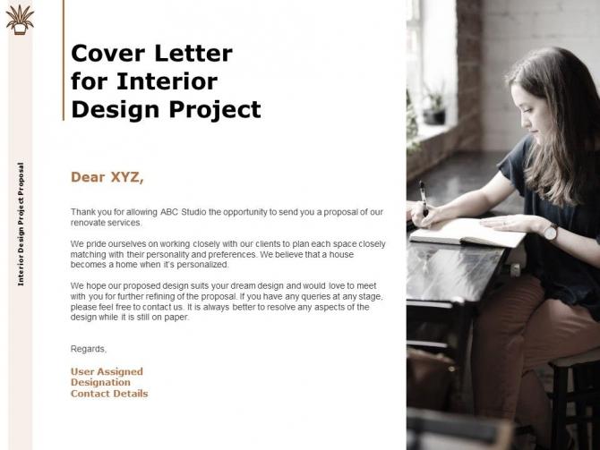 Cover Letter For Interior Design Project Designation Ppt