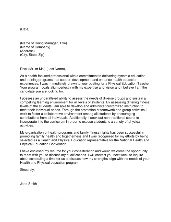 Cover Letter For Paraeducator Example