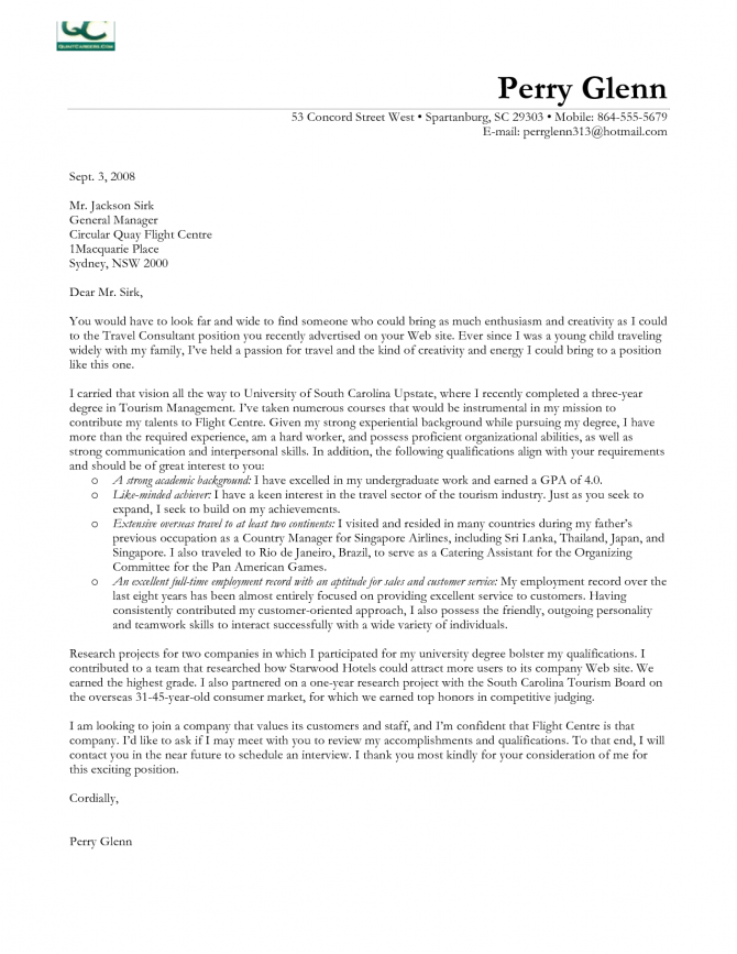 Cover Letter Template Consulting   Consulting Cover
