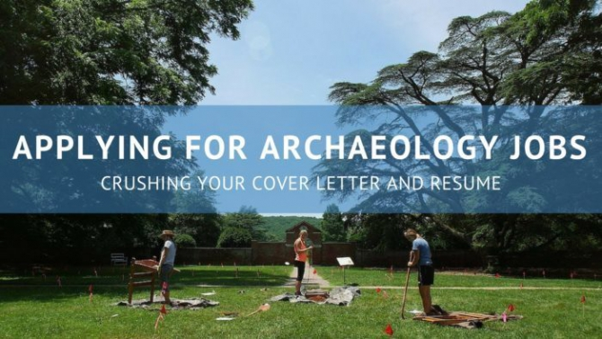 Crushing Your Archaeology Cover Letter And Resume  Terrypbrockcom