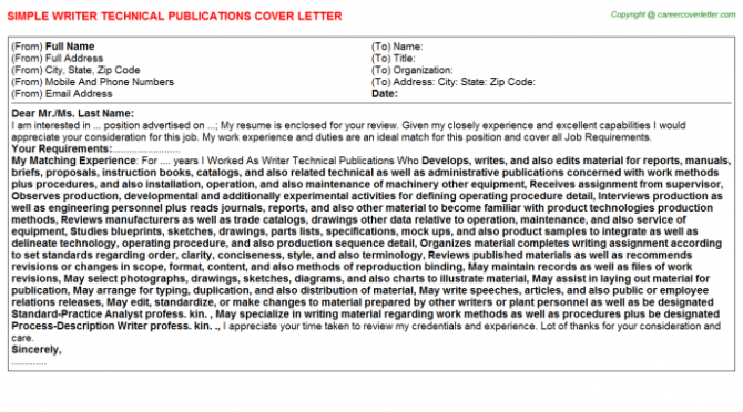 Customs Brokerage Entry Writer Cover Letters