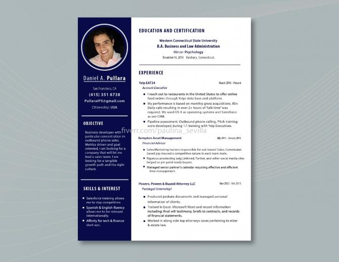 Design Cv  Resume  Curriculum Vitae  Cover Letter By Paulinasevilla