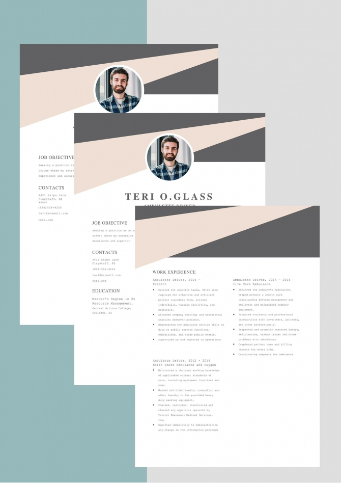 Design Resume  Resume Ms Word  Resume Cover Letter Template