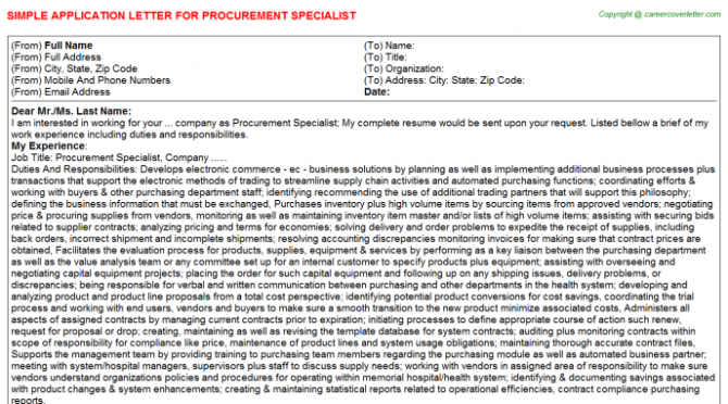 Digital Radiography Clinical Product Specialist Application Letters