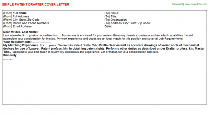 Electrical Drafter Cover Letters