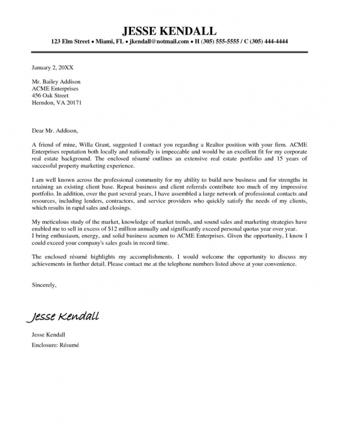 Explore Our Image Of Real Estate Cover Letter Template In