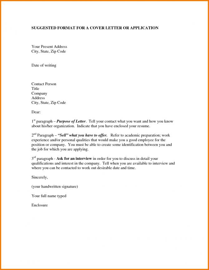 Formats Of Application Letter