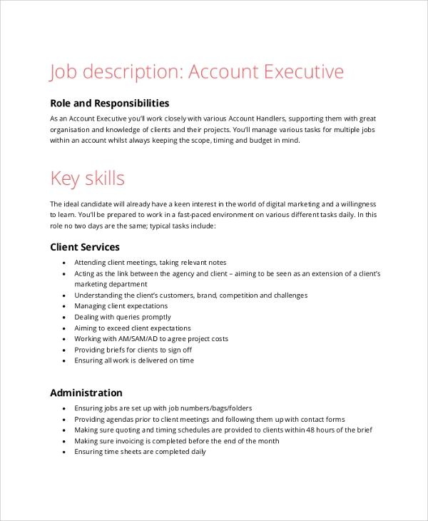 Free  Sample Accountant Job Descriptions In Pdf