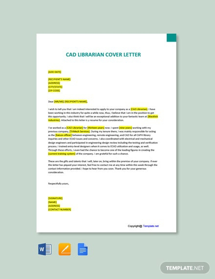Free Art Librarian Cover Letter Template
