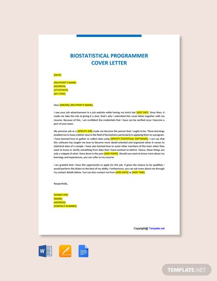 Free As Programmer Cover Letter Template