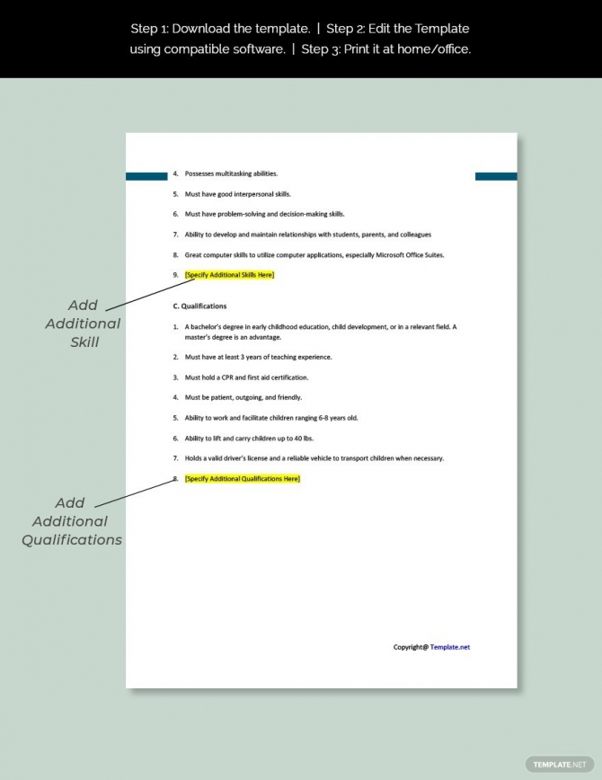 Free Business Transient Sales Manager Job Addescription Template
