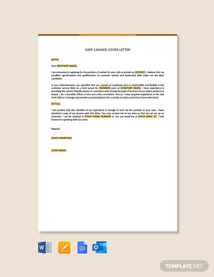 Free Cashier Cover Letter Templates