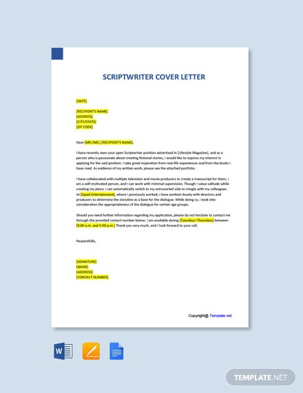 Free Corporate Writer Cover Letter Template