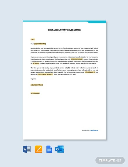 Free Cost Accountant Cover Letter
