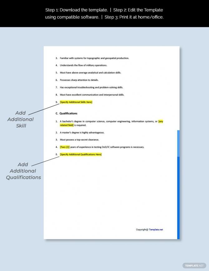 Free Dcgs Tester Job Description Template Ad    Ad  Tester