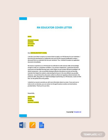 Free Educator Cover Letter Templates