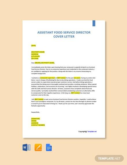 Free Food Service Director Job Addescription