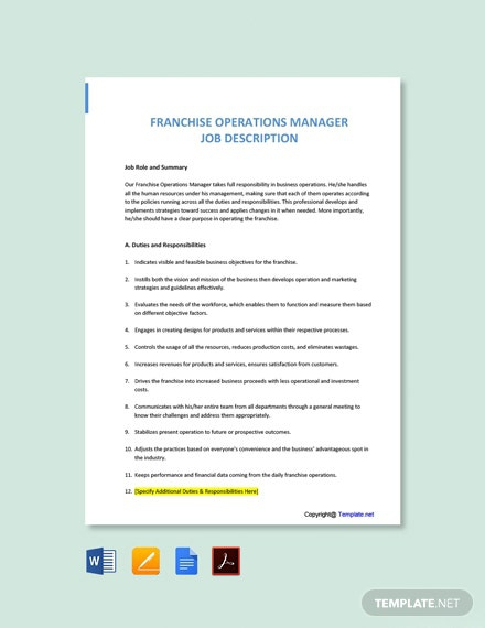 Free Franchise Templates