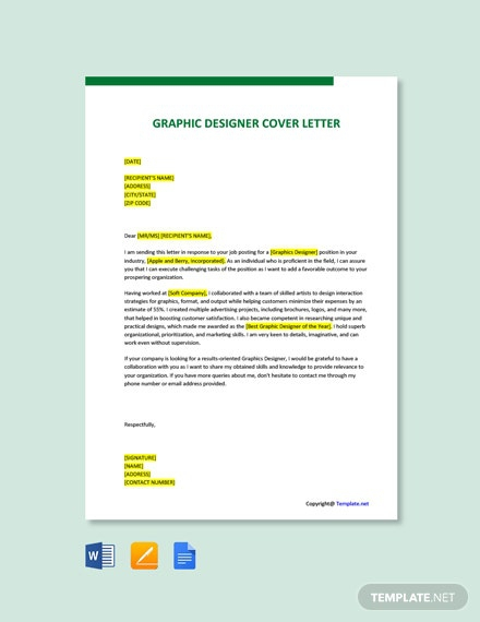 Free Graphics Designer Cover Letter Template