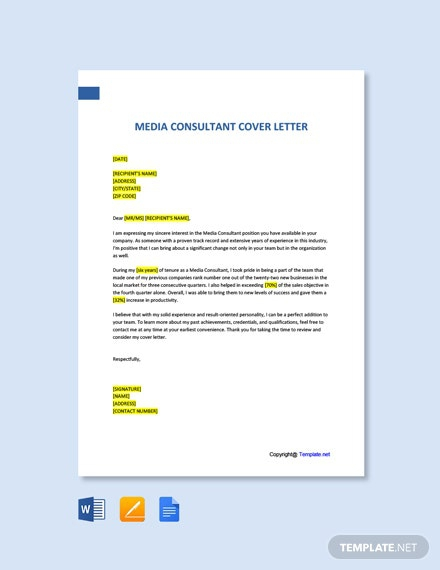 Free Media Consultant Cover Letter