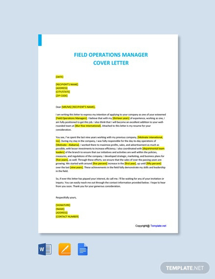 Free Operations Cover Letters Cover Letters Templates