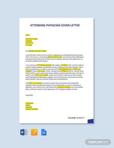 Free Physician Cover Letter Templates