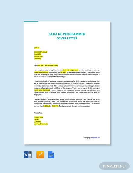 Free Programmer Cover Letter Templates