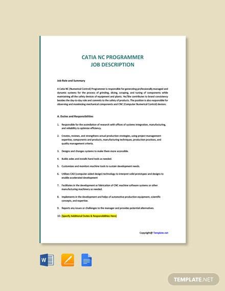 Free Programmer Job Description Templates