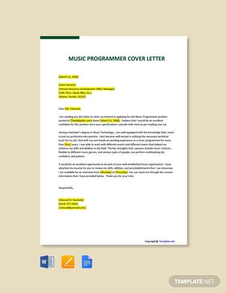 Free Sas Programmer Cover Letter Template