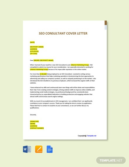 Free Seo Consultant Cover Letter
