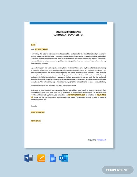 Free Siebel Consultant Cover Letter Template