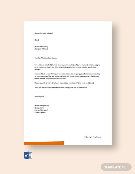 Free Small Business Marketing Letter Template