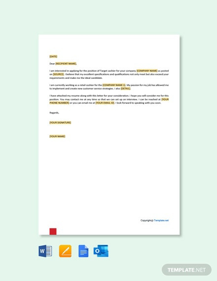 Free Target Cashier Cover Letter